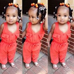 Baby Hairstyles Ideas – Baby and Toddler Clothing and Accesories Lil Girl Hairstyles, Cute Hairstyles For Kids, Girls Natural Hairstyles, Kids Braided Hairstyles, Toddler Hairstyles, Mixed Baby Hairstyles, School Hairstyles, Cute Black Babies, Black Baby Girls