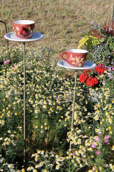 Blumentopf Design - Verwenden Sie alte oder neue Tassen als Blumentöpfe