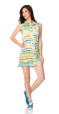 The RVCA Gradient Horizon Dress features limited edition artwork by artist Michelle Blade