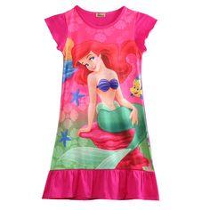 >> Click to Buy << Kids Girls Clothes Little Mermaid Ariel Princess Dress Pajama Sleepwear #Affiliate