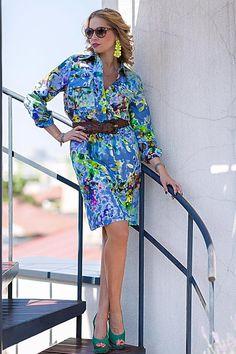Beautiful Ileana Badiu looking amazing in LURE silk shirt dress! www.lurestore.eu #lure #springsummer #ileanabadiu #shirtdress Silk Shirt Dress, Shirtdress, Spring Summer 2015, Dresses With Sleeves, My Style, Amazing, Long Sleeve, Shirts, Beautiful
