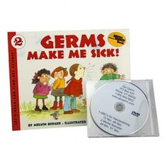 This hand washing DVD comes with the popular Germs Make Me Sick Book. Designed to assist teachers in how to use Glo Germ products when teaching hand washing. Ages 4-8. #handwashing
