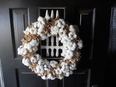 Cotton Boll and Burr Wreath or Center Piece. $70.00, via Etsy.