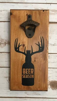 Getting a beer party?, all of us enable you to be certain a good time and the best home brew experience, find the best choice of microbrews, work beers and seasonal. Diy Bottle Opener, Wall Mounted Bottle Opener, Beer Opener, Barn Wood Projects, Woodworking Projects Diy, Craft Show Ideas, Diy Ideas, Wood Creations, Wooden Crafts