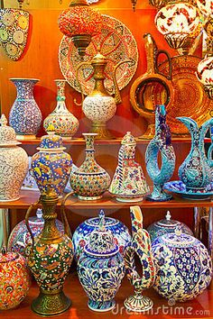 Turkish Ceramics, love the colorsnand patterns