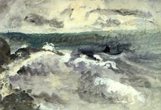painting box: Boat In A Stormy Sea by Winifred Nicholson