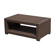 How Much Does Outsunny Rattan Style Resin Wicker Outdoor Coffee Table U2013  Brown Cost?