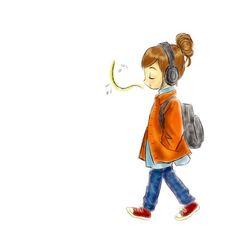 着彩はphotoshop  #singing #girl #headphones #converse #photoshop #illustration #illustrator #お絵かき #イラスト