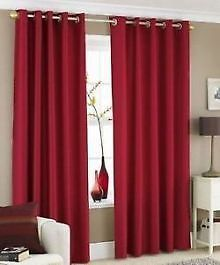 Faux Silk Deep Red Lined Eyelet Curtains – Linen and Bedding Ikea Curtains, Grommet Curtains, Sheer Curtains, Panel Curtains, Curtains Living, Red Bedding, Luxury Bedding, Linen Bedding, Bedding Sets