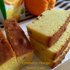 A moist but not oily orange butter cake. I let the cake rest on top of a tempura paper for almost 5 hours, but the paper only has ...