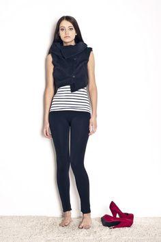 Waistcoat from polish designer Magda Hasiak.    $170    http://odprojektanta.pl/pr-281/Magda-Hasiak-Krotka-czarna-welniana-kamizelka-z-zatrzaskami.html    Contact: bok@odprojektanta.pl
