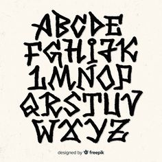 Discover recipes, home ideas, style inspiration and other ideas to try. Graffiti Lettering Fonts, Graffiti Words, Tattoo Lettering Fonts, Graffiti Tagging, Street Art Graffiti, Graffiti Artists, Grafitti Alphabet, Alfabeto Graffiti, Typographie Fonts