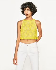 Image 2 of CROP TOP WITH BOW IN BACK from Zara