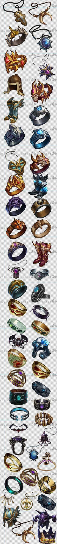 写实 欧美 风格 手游游戏 装备 武器 ...@helandi采集到图标(244图)_花瓣:  Gaming accessories. Lovely jewellery and armour.