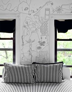 Intérieurs   Shantell Martin Bed Wall, Bedroom Wall, Bedroom Decor, White  Bedroom, d380722b59d