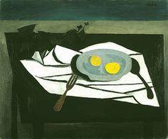 """Still Life Lemons On Plate"" by William Scott. 1948. Oil on canvas."