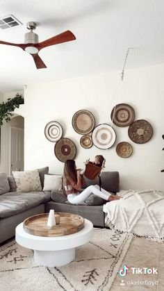 Baby home home decor boho decor family mom baby swing living room living room decor wall baskets sectional white table coffee table # Kids Living Rooms, Boho Living Room, Living Room Designs, Living Room Decor On A Budget, Coffee Table Decor Living Room, Living Room White, Decorating Coffee Tables, Living Room Modern, Home And Living