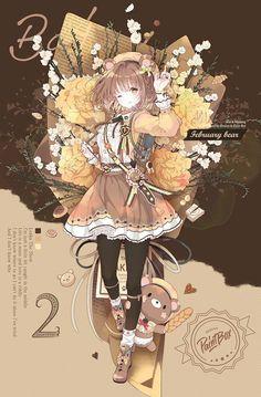 Anime Girl Cute, Kawaii Anime Girl, Kawaii Art, Anime Art Girl, Manga Girl, Fanarts Anime, Anime Chibi, Manga Anime, Anime Drawings Sketches