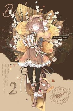Fanarts Anime, Anime Chibi, Manga Anime, Anime Girl Cute, Anime Art Girl, Kawaii Art, Kawaii Anime, Anime Drawings Sketches, Cute Art Styles