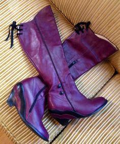 Women's JOHN FLEUVOG Miss December Purple Knee High BOOTS size 8 #JohnFluevog #FashionKneeHigh