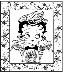 betty boop coloring pages free all about free coloring pages