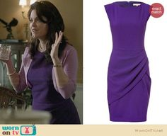 15e55b2fbf Mellie s purple pleated front dress on Scandal