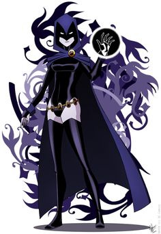 Raven- the absolutely most awesome teen titan Comic Book Characters, Comic Character, Comic Books Art, Teen Titans Raven, Teen Titans Go, Robin, Deathstroke, Dc Batgirl, Raven Beast Boy