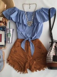 Prêt-à-porter-Outfits für Damen Cute Summer Outfits, Short Outfits, Spring Outfits, Cool Outfits, Casual Outfits, Casual Summer, Casual Dresses, Summer Dresses, Teen Fashion