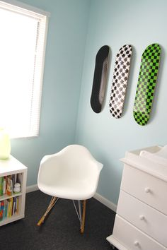 Awesome nursery tour on Hey! Jen Renee's blog.  Very modern, very easy.