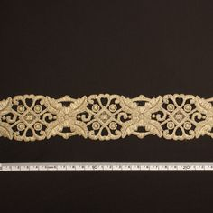 metallic fabric trim | Metallic Gold Guipure Lace Trim