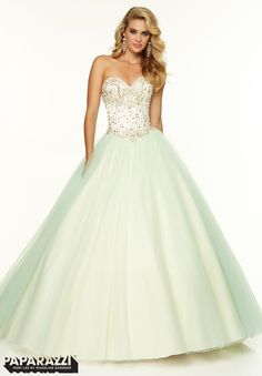 One of our many ball gowns here at Stephen's Prom and Beyond! You will feel like a princess in this Paparazzi by Mori Lee. #PROM2015