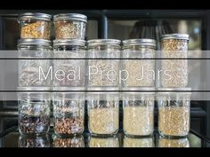 Meal prep jars are a great way to pre-measure your beans and grains along with spices. Keep a bunch in your cupboard for an easy meal after a long day, or prep a few meals for a trip!