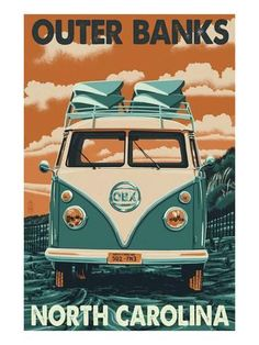 VW Van - Outer Banks, North Carolina Posters by Lantern Press at AllPosters.com