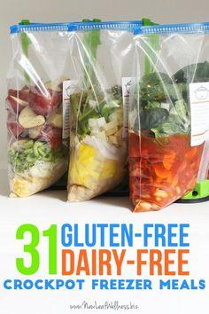 31 Gluten-Free Dairy-Free Crockpot Freezer Meals