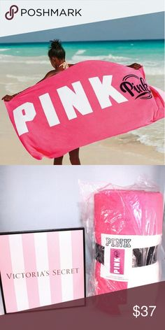 "VS Pink Oversized Summer Towel New with Tag  Pink Victoria's Secret Oversize Towel New with Tag  Size: 40"" x 70""  *Offers available *No Trade PINK Victoria's Secret Accessories"
