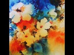 """""""Floral Splash"""" -- Inventing a Loose Flower Painting from the Imagination"""
