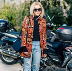 Epic printed jacket  The Zoe Report