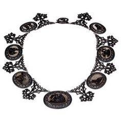 Berlin Iron Plaque Necklace