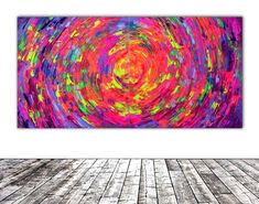 Buy Gypsy Skirt Rounded IV - 160x80 cm - XXL Large Modern Abstract Big Painting - Ready to Hang, Office, Hotel and Restaurant Wall Decoration, Acrylic painting by Soos Tiberiu on Artfinder. Discover thousands of other original paintings, prints, sculptures and photography from independent artists.