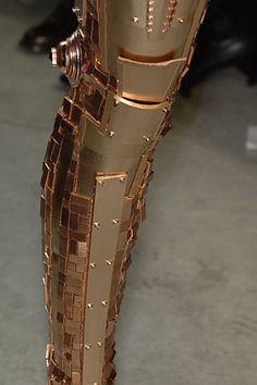 Balenciaga 2007 Gold-Plate Armor Leggings