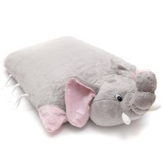 Greenlatex Thailand Natural Latex Elephant Doll Pillow Grey: