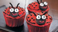 Relish this creative ladybug cupcake that's made with Betty Crocker® SuperMoist® cake mix and icing – perfect for dessert.