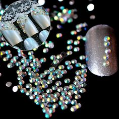 1lot=1000pcs 2mm AB Nail Art Rhinestones Small Flatback Crystal AB 14 Facets Resin Round Rhinestone Beads J22
