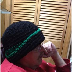 #crochet extra large beanie for my Dad- per his request :)
