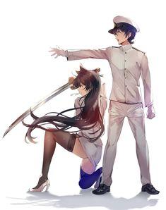 Anime Girl Hot, Kawaii Anime Girl, Anime Art Girl, Cute Anime Character, Character Art, Jagodibuja Comics, Yandere Girl, Anime Military, Girls Frontline
