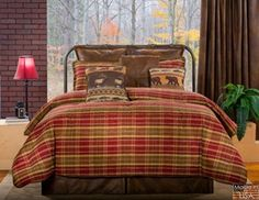 With Montana Morning Rustic Plaid Comforter Bedding, every morning will feel like a day in the mountains. Oversized comforter has a cotton face with allover. Rustic Comforter Sets, Plaid Comforter, Country Bedding, Rustic Bedding, Bedding Sets, Morning Bed, Daybed Sets, Orange Bedding, Quilt Set