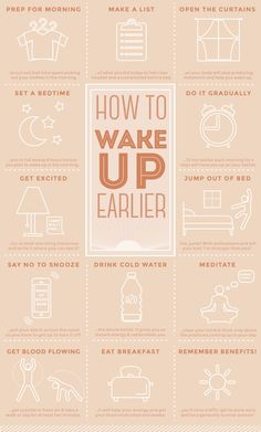 Infographic | How To Wake Up Early http://papasteves.com