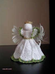 Lady with crochet - anioł http://ladywithcrochet.blogspot.com/
