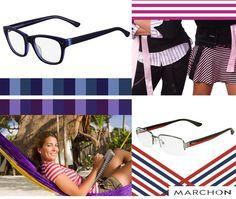 As listras estão na moda! Você pode usar em roupas e acessórios, como os óculos, por exemplo! Mas não se esqueça: listras verticais alongam e emagrecem e as horizontais achatam e engrandecem.