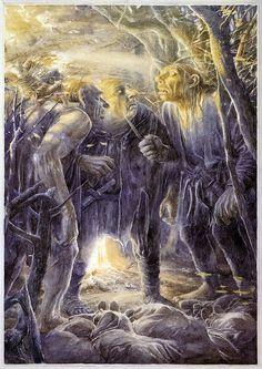 Les trois Trolls, d'après Alan Lee